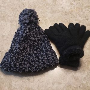 Like new winter hat and gloves